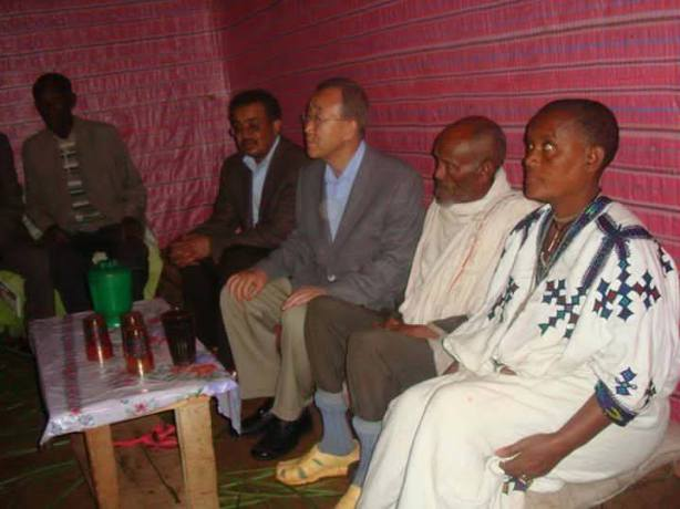 General Secretary of the UN Ban Ki- Moon in Ethiopia